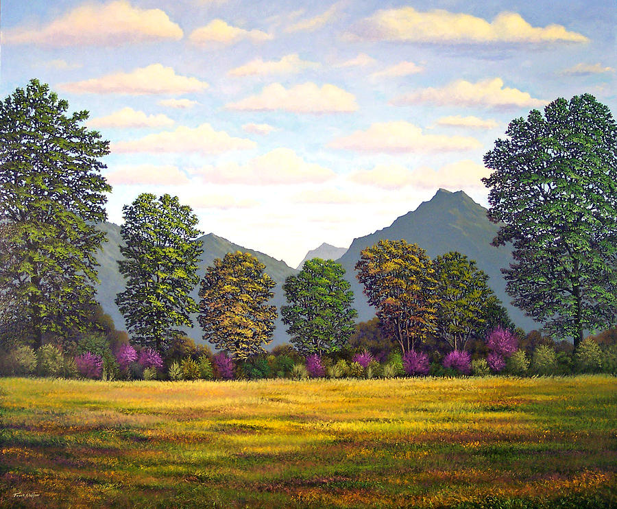 Mountains Painting - Sutter Buttes In Springtime by Frank Wilson