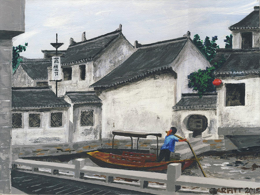 Suzhou Boatman by John Garfitt