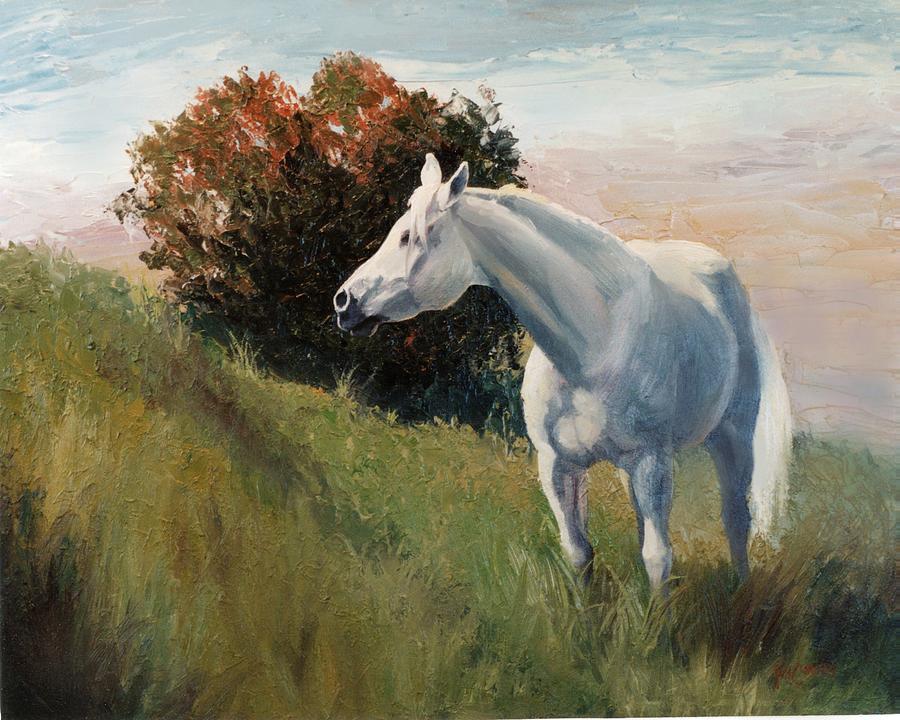 Arabian Painting - Suzie  Arabian Horse Portrait Painting by Kim Corpany