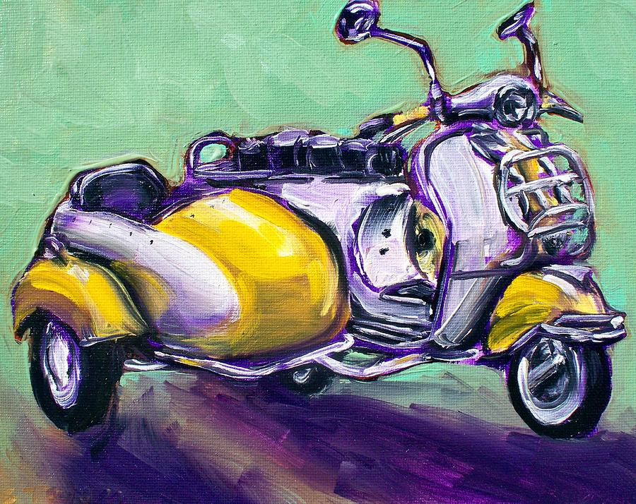Side Car Painting - Suzie Sidecar by Sheila Tajima