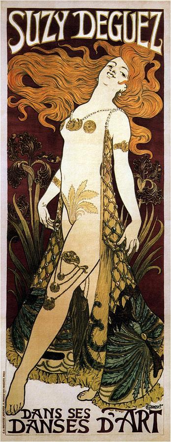 Suzy Deguez - Dance Of Art - Vintage Art Nouveau Poster Mixed Media