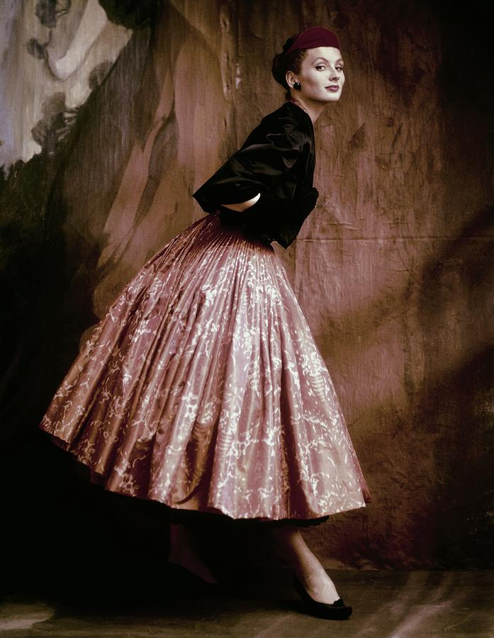 Accessories Photograph - Suzy Parker In Givenchy Full Skirt by John Rawlings