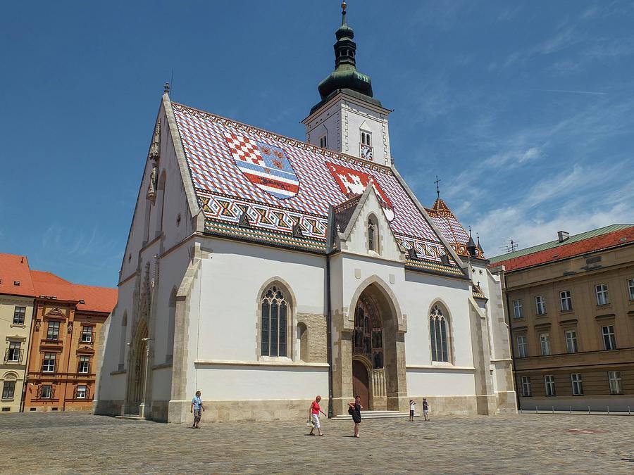 Zagreb Photograph - Sv Marko Church Zagreb City Croatia by Olga Kurygina