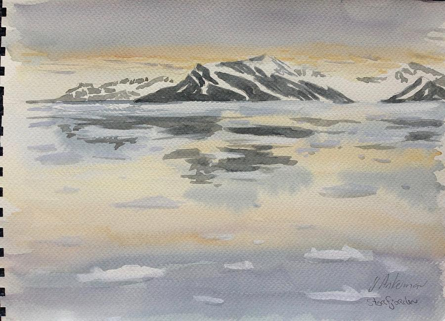 Seascape Painting - Svalbard by Yvonne Ankerman