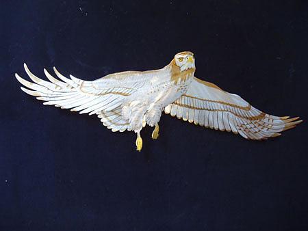 Swainsons Hawk Sculpture - Swainsons Hawk by Glen Cowan