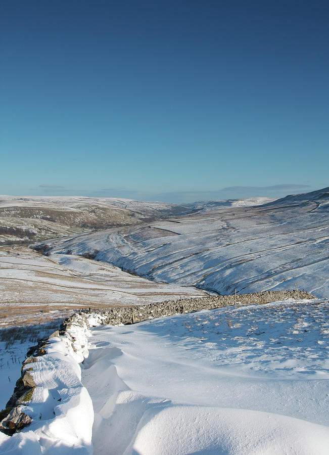 Swaledale Photograph - Swaledale In Winter by David Handson