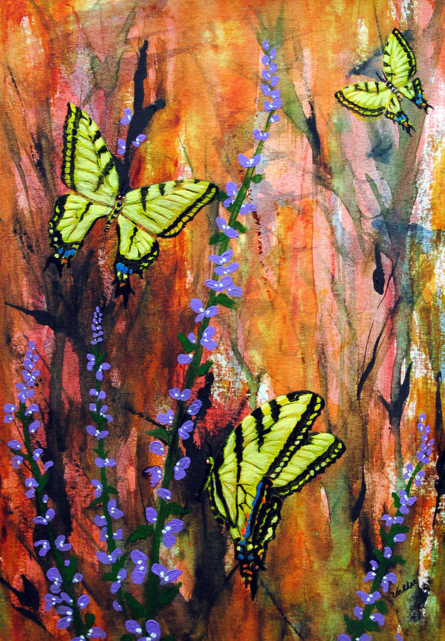 Butterflies Painting - Swallowtail Butterflies by Vallee Johnson