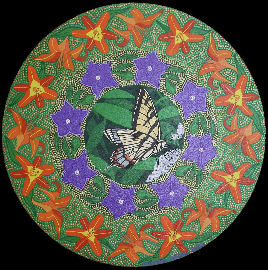 Swallowtail Mandala by Amanda Lynne