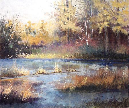Landscape Painting - Swamp by Dalas Klein