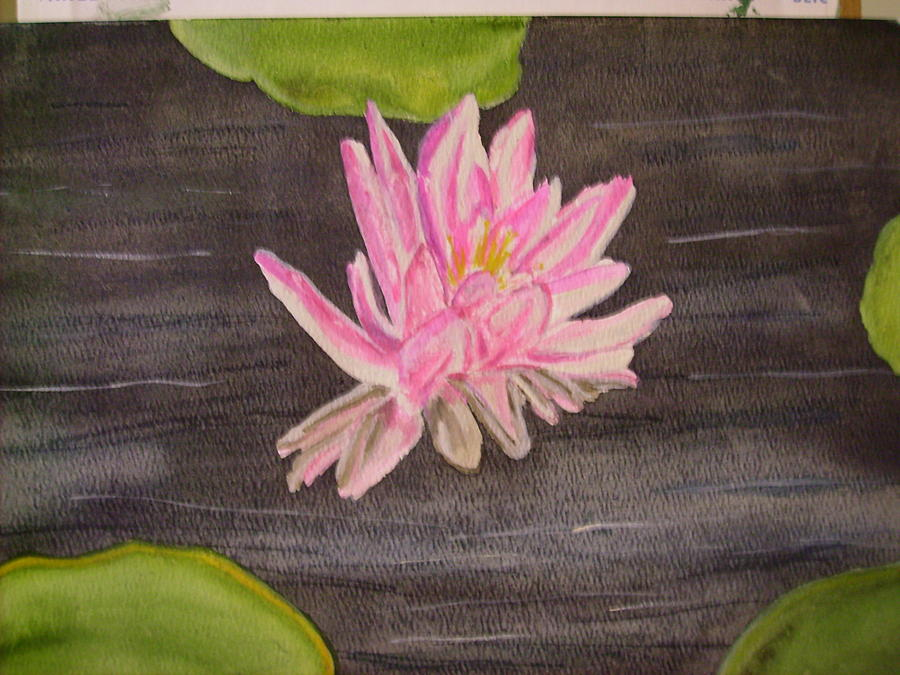 Water Lily Painting - Swamp Lily by Karen Salley-Rice