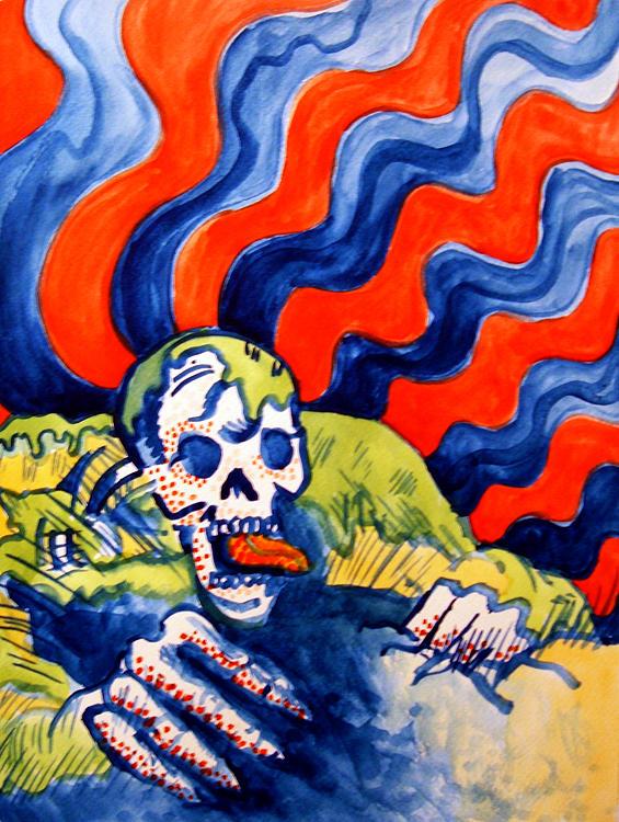 Painting Painting - Swamp Zombie by John  Stidham