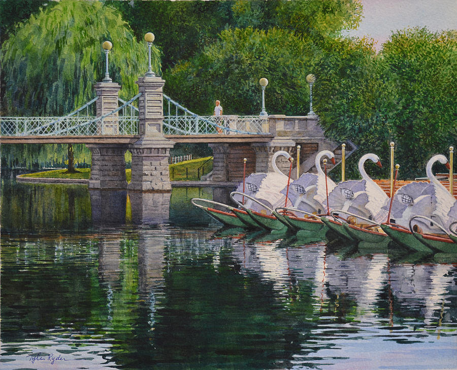Swan Boats Boston Common by Tyler Ryder