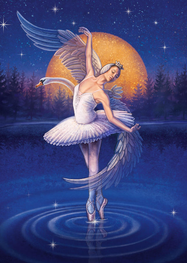 Swan Lake Painting - Swan Lake by Anne Wertheim
