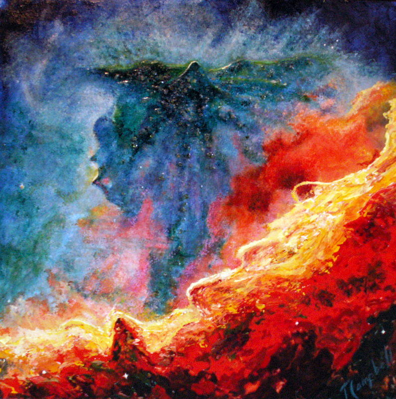 Angel Painting - Swan Nebula by Trish Campbell
