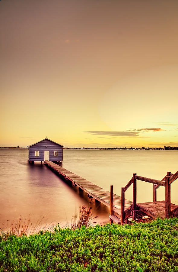 Jetty Photograph - Swan River by Jimmy Chong