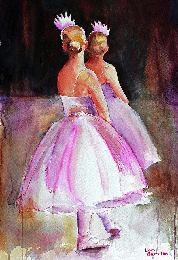 Ballet Painting - Swans by Lora Garcelon