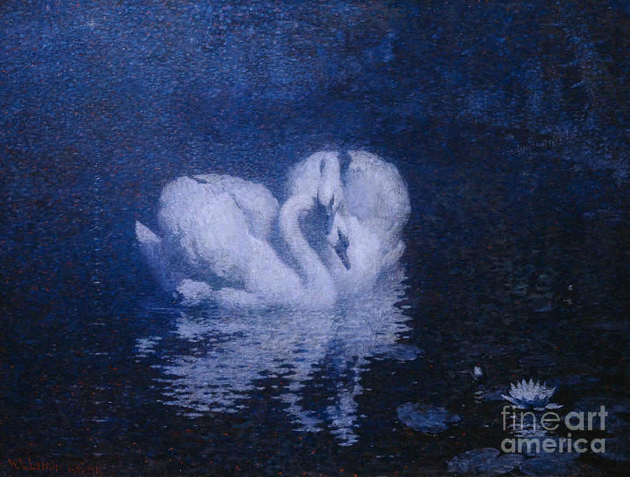 Swans Painting - Swans by William Robinson Leigh