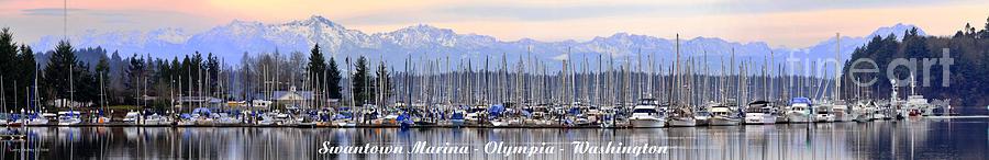 Landscape Photograph - Swantown Marina Olympia Wa by Larry Keahey