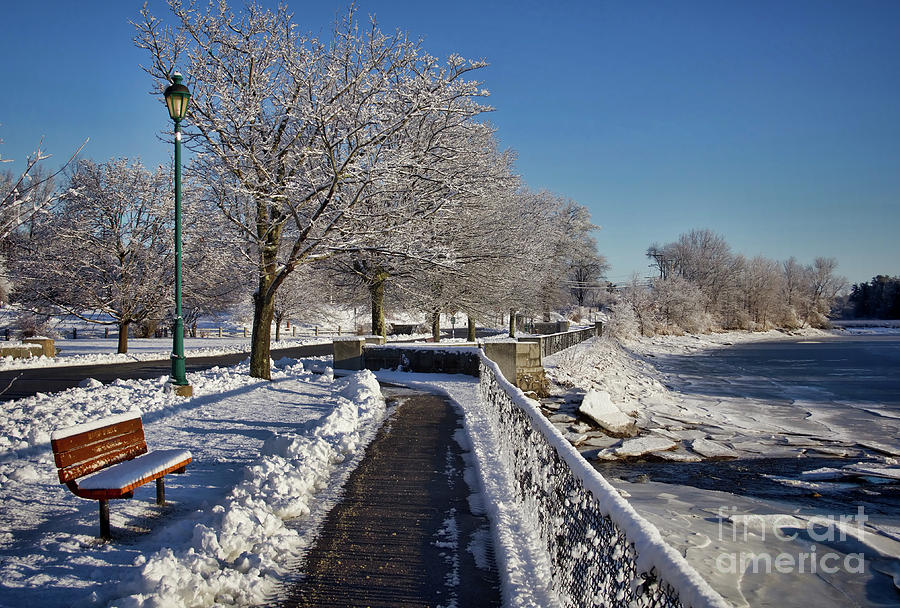 Winter Scenes Photograph - Swazey Park  by Diana Nault