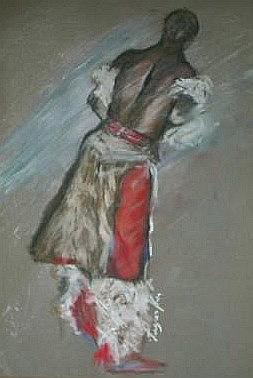 Swazi Dancer Drawing by Arlene Rabinowitz