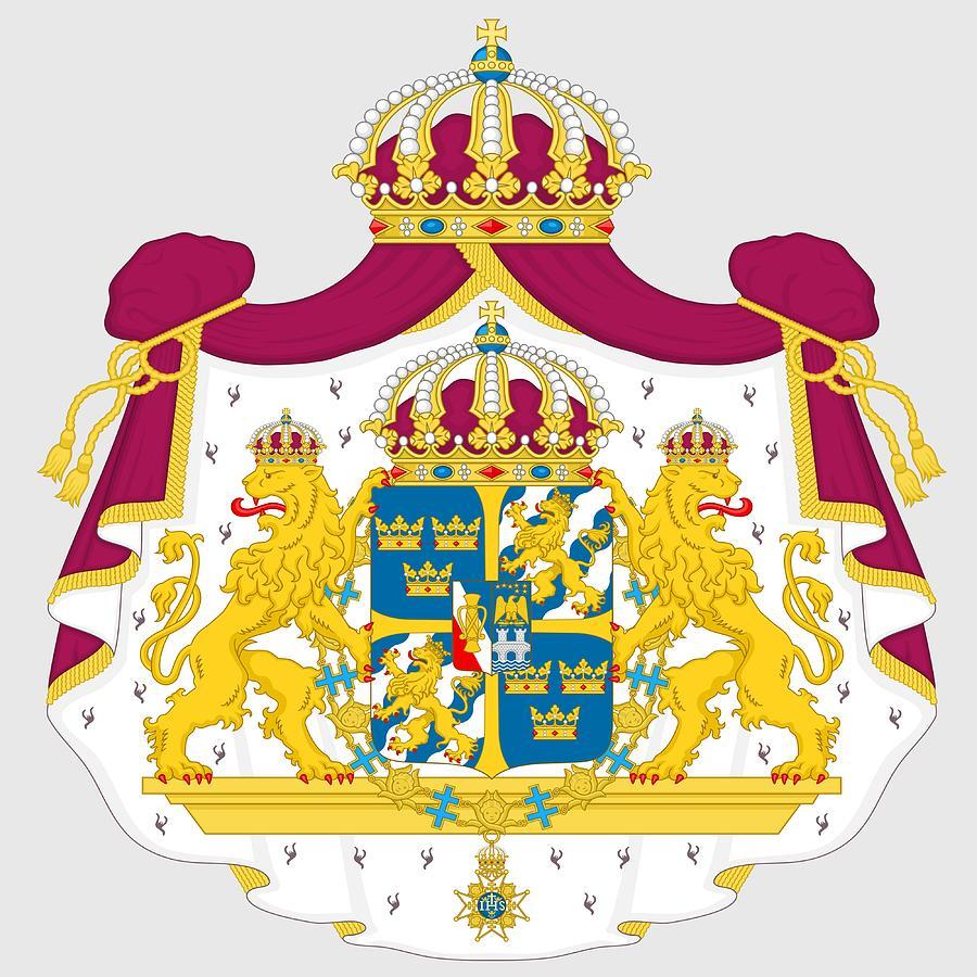 Sweden Digital Art - Sweden Coat Of Arms by Movie Poster Prints