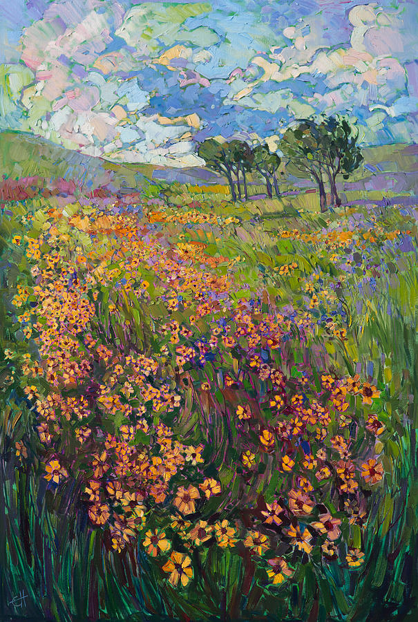 Pacific Northwest Painting - Sweep of Wildflowers by Erin Hanson