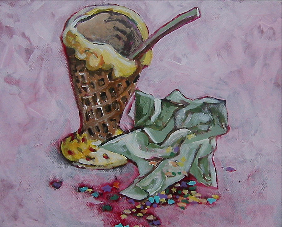 Ice Cream Painting - Sweet Afterglow by Tilly Strauss