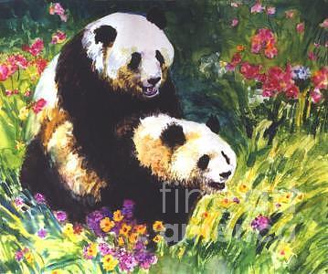 Panda Painting - Sweet As Honey by Guanyu Shi