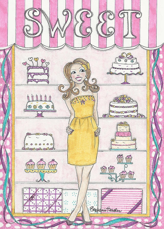 Sweet Mixed Media - Sweet Birthday by Stephanie Hessler