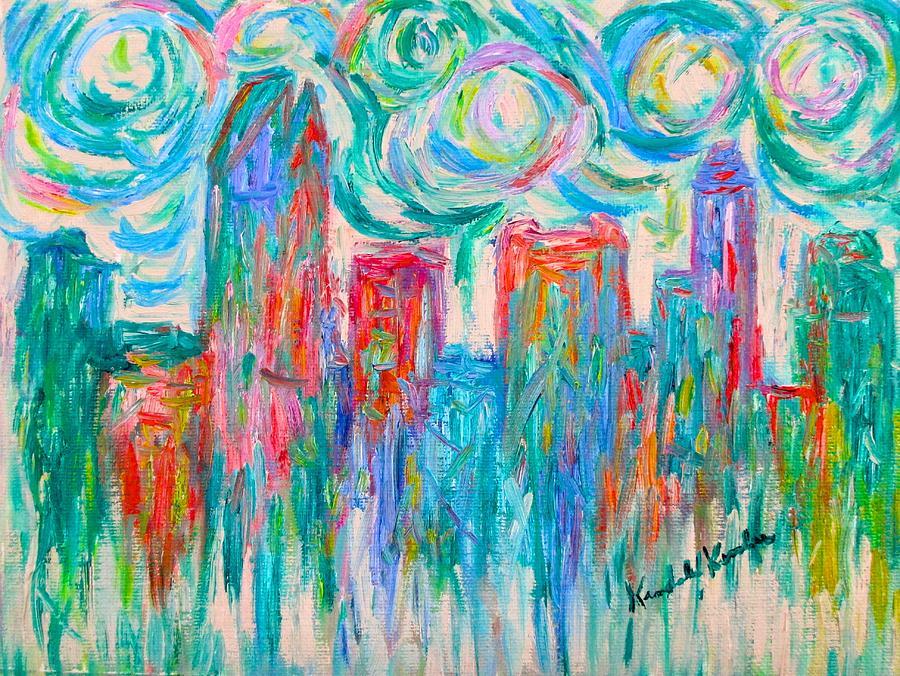 City Painting - Sweet Charlotte  by Kendall Kessler