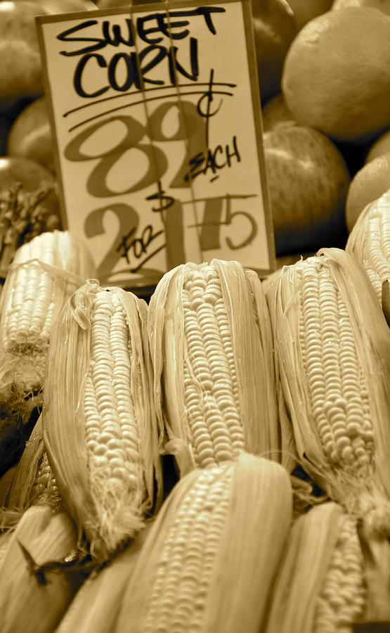 Sweet Corn Photograph - Sweet Corn by Caroline Reyes-Loughrey