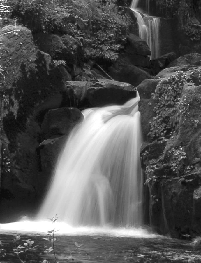 B&w Photograph - Sweet Cr. Falls by Scott Gould