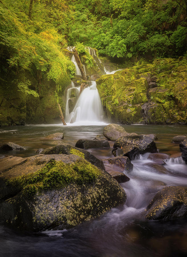 Sweet Creek Falls by Jon Ares