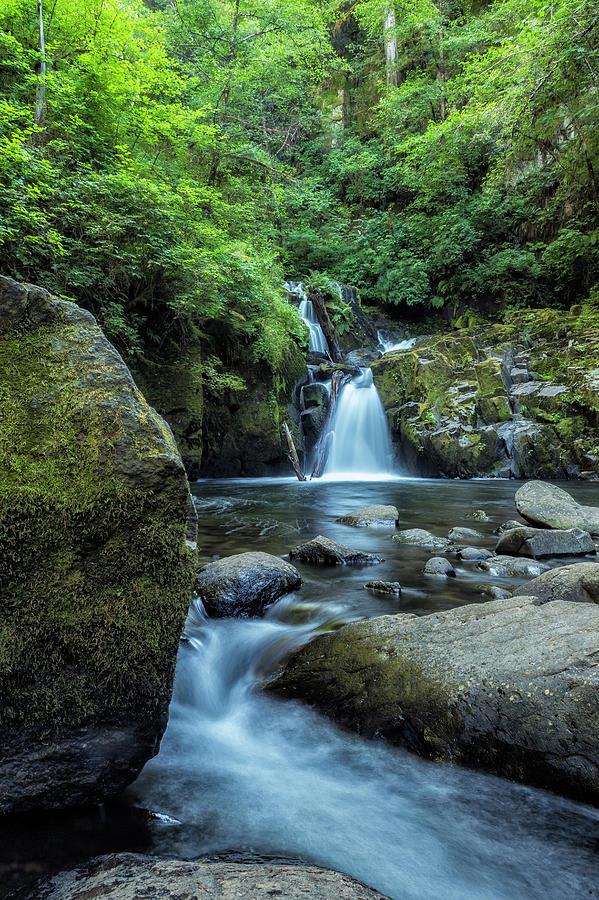 Sweet Creek Falls Photograph - Sweet Creek Falls Vertical by Belinda Greb