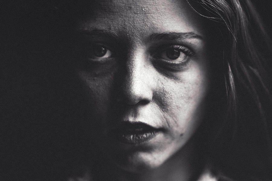 Portrait Photograph - Sweet Darkness. by Lincon Vidal