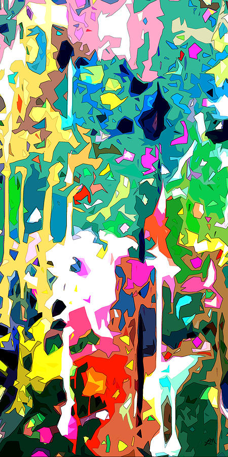 Abstract Digital Art - Sweet Dreams Again panel one of two by Linda Mears