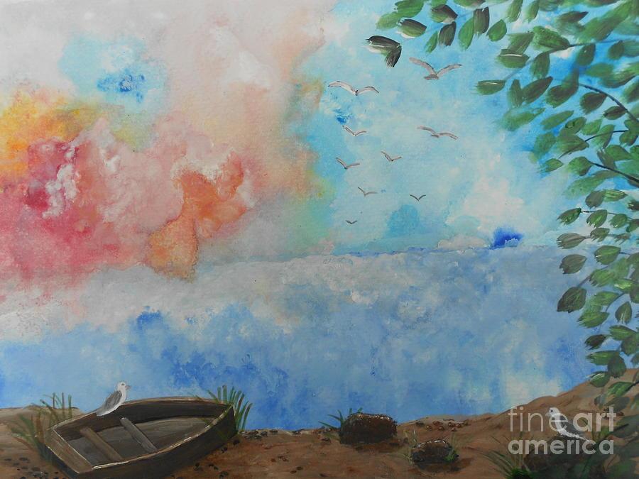 Water Painting - Sweet Dreams by Barbara McNeil