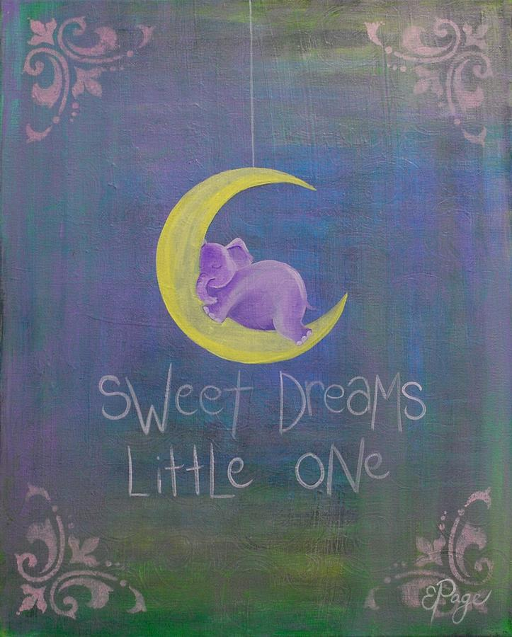 Baby Elephant Painting - Sweet Dreams  by Emily Page