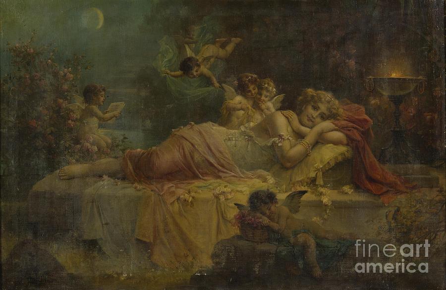 Night Painting - Sweet Dreams by Hans Zatzka