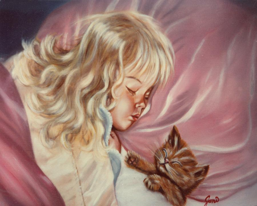 Portrait Painting - Sweet Dreams by Joni McPherson