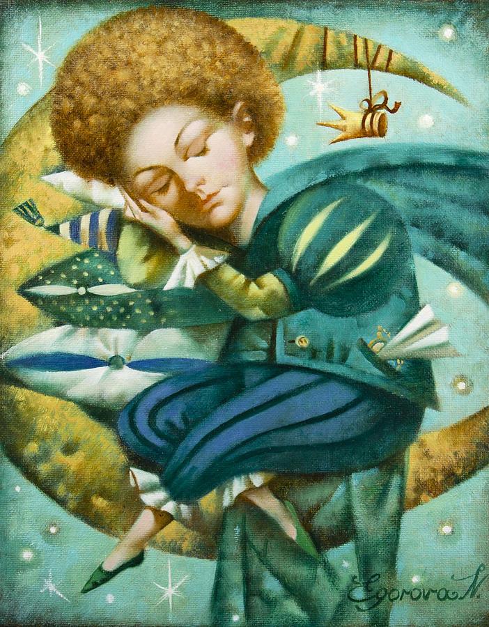 Little Prince Painting - Sweet Dreams by Nadia Egorova
