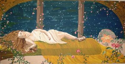 Women Painting - Sweet Dreams Original by Christine Ward