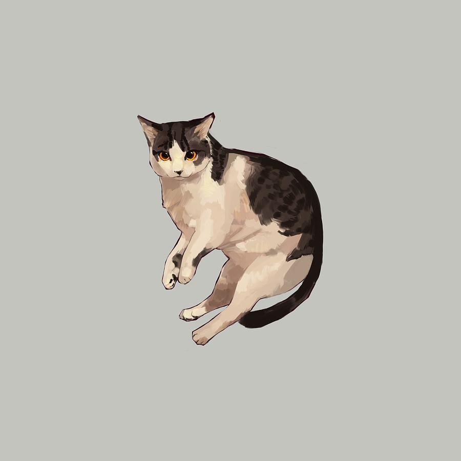 Cat Digital Art - Sweet Cat by Ellan Suder