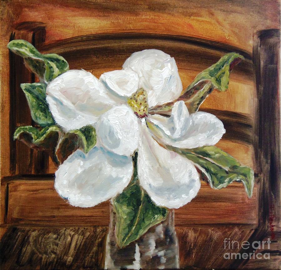 Magnolia Painting - Sweet Glance by Isabel Honkonen