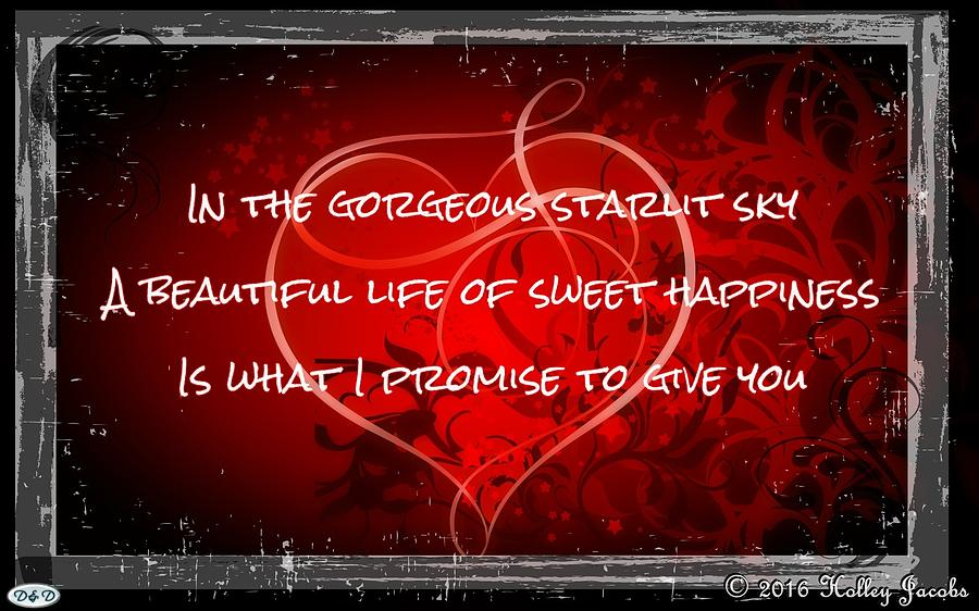 Commitment Photograph - Sweet Happiness by Holley Jacobs