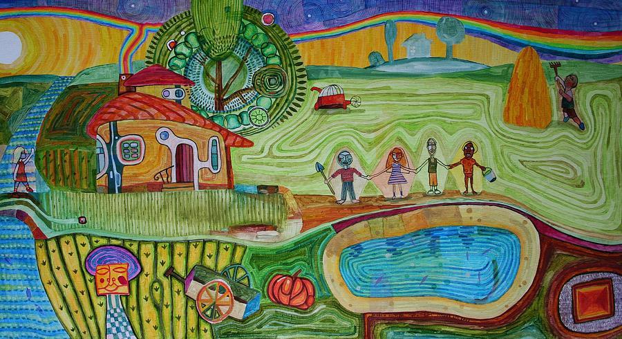 Landscape Painting - Sweet Home by Aleksey Yalovega