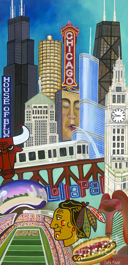 Chicago Painting - Sweet Home Chicago by Carla Bank