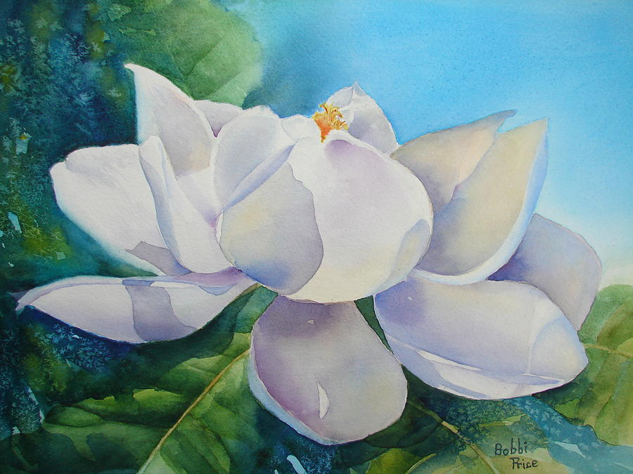 Watercolor Painting - Sweet Magnolia by Bobbi Price