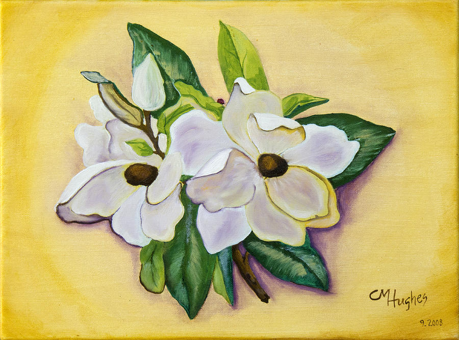 Magnolia Painting - Sweet Magnolias by Christie Nicklay