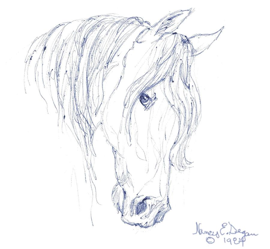 sweet mare drawing by nancy degan RE MAX horse drawing sweet mare by nancy degan